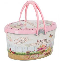 Корзина для пикника Violet 0060  24х40х28 см бежевая малая Sweet Home