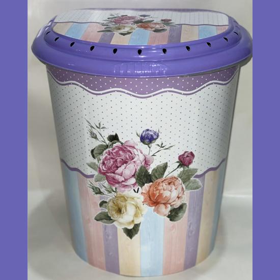 Бак для белья Violet 0290  40 л с рисунком