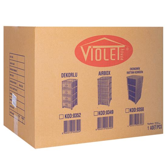 Комод Violet 0349 4х ярусный