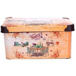 Корзинка Violet 0646 5 л с крышкой и рисунком