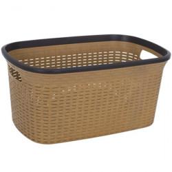 Корзина для белья Violet 0774  40 литров коричневая Ротанг