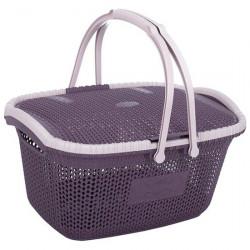 Корзина для пикника Violet 1001 28 литров вязка с крышкой
