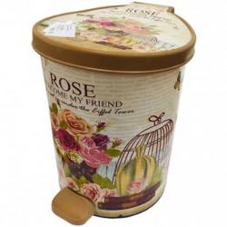 Ведро Violet 0384  3 в 1 з педалью New Rose