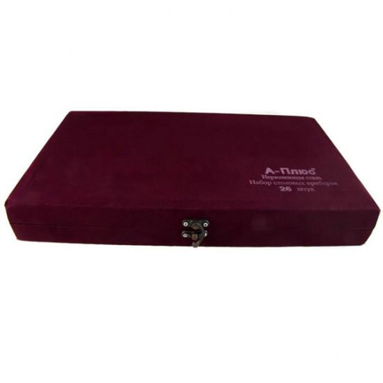 Набор столовых принадлежностей A+ 0211  26 предметов бархатный