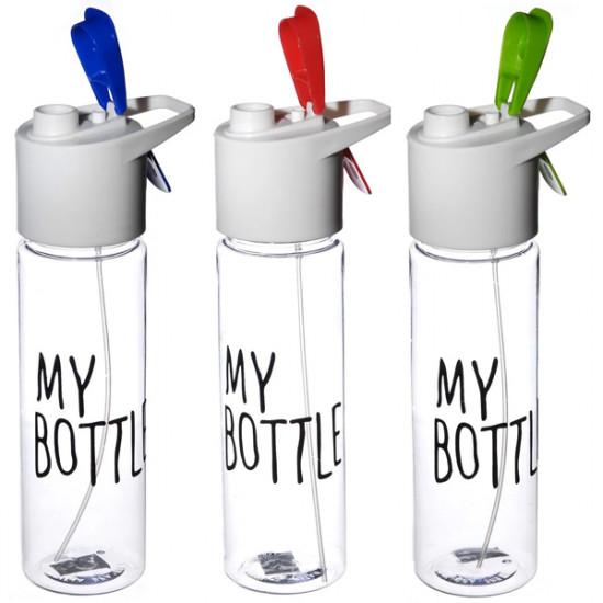Бутылочка для води А + 1009 МВ 0.7 л прозрачная с кнопкой