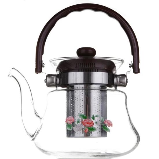 Чайник стеклянный А + 1041  0.8 л