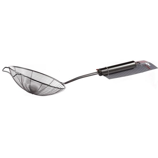 Шумовка - сито А + 1076 нержавеющая сталь с металлической ручкой