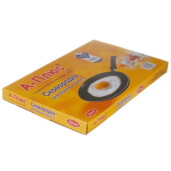 Сковорода с антипригарным покрытием для блинов A + 1114  22 см