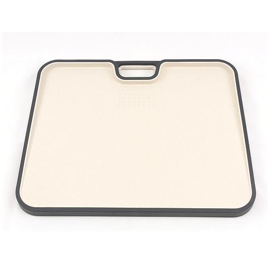 Доска кухонная А+ 1215  34х28 см пластик c силиконовым бортиком