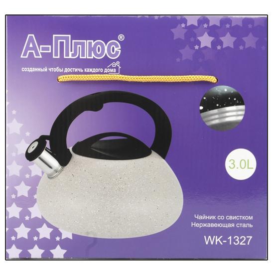 Чайник А + 1327  3 л мраморный нержавеющая сталь с кнопкой