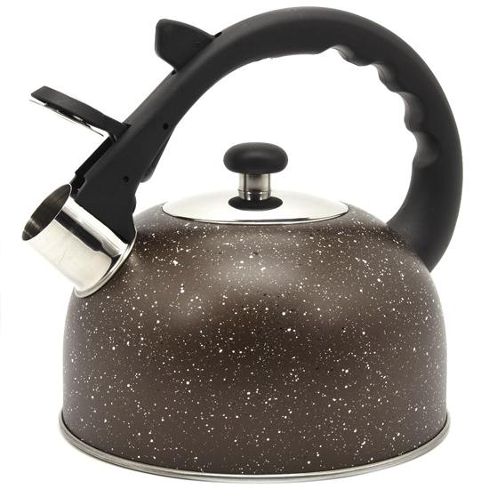 Чайник мраморный А + 1338  2,5 л нержавеющая сталь пластиковый носик