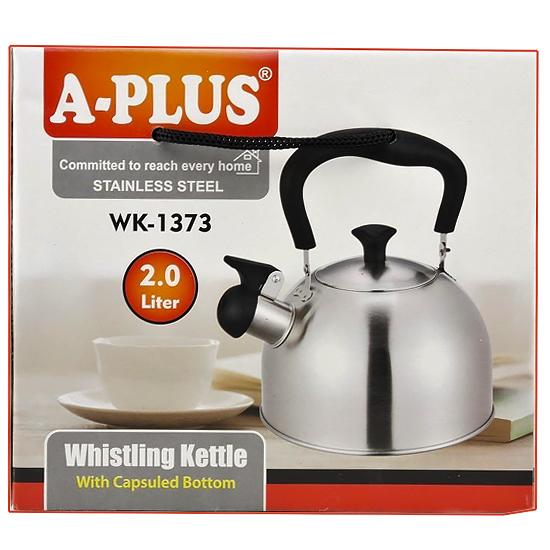 Чайник А + 1373  3,2 л нержавеющая сталь цветной Алладин черный