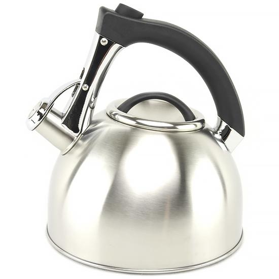 Чайник А + 1381  3 л нержавеющая сталь металлический носик пластиковая ручка
