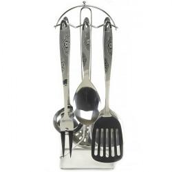 Кухонный набор А + 1402 7 предметов нержавейка с узором