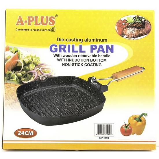 Сковорода с антипригарным покрытием для гриля A + 1494  24 см