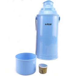 Термос А + 1637  3.2 л стеклянная колба голубая