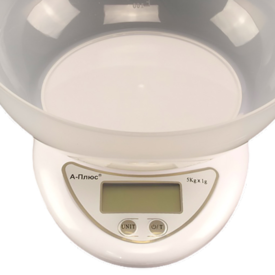 Весы кухонные А + 1681 с чашей до 5-ти кг