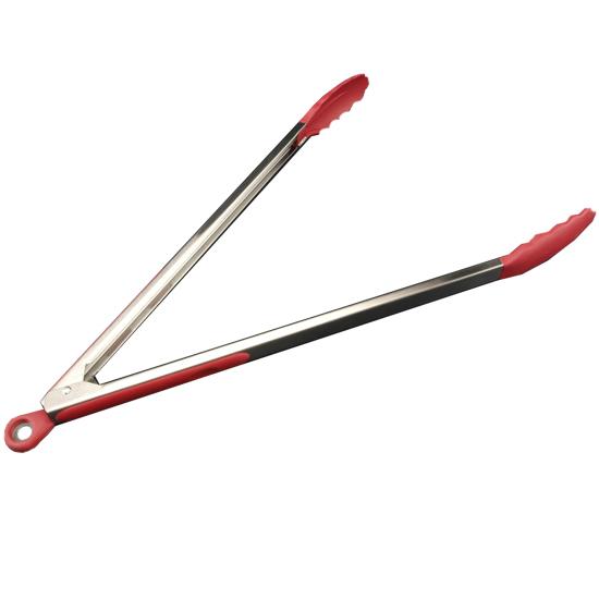 Щипцы А + 1831 нержавеющая сталь 50 см универсальные силиконовые красные
