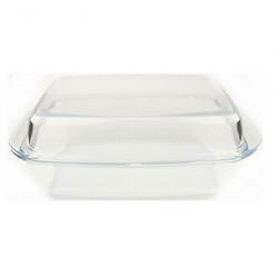Жаростойкая посуда А+  4006 3 литра прямоугольная с крышкой