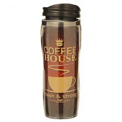 Термокружка А + 450 С coffee house коричневая