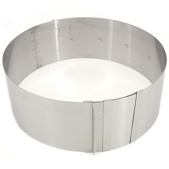 Форма для выпечки A+ 613LC складная круглая большая 10х16х30 см