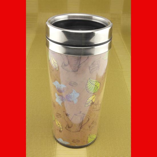 Термокружка А + 927 LD  0.45 л  coffee коричневая