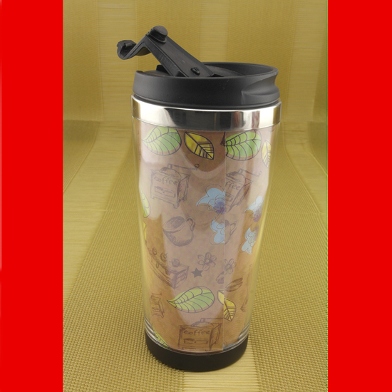 Термокружка А + 927 BX  0.45 л  нержавеющая сталь coffee коричневая