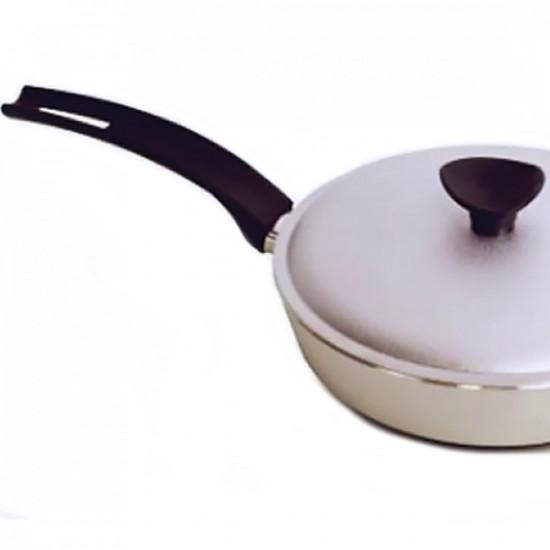 Сковородка Talko алюминиевая D 42261 26 см рифленым дном и крышкой