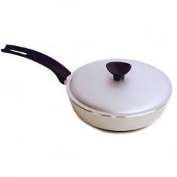 Сковородка Talko алюминиевая D 42241 24 см рифленым дном и крышкой