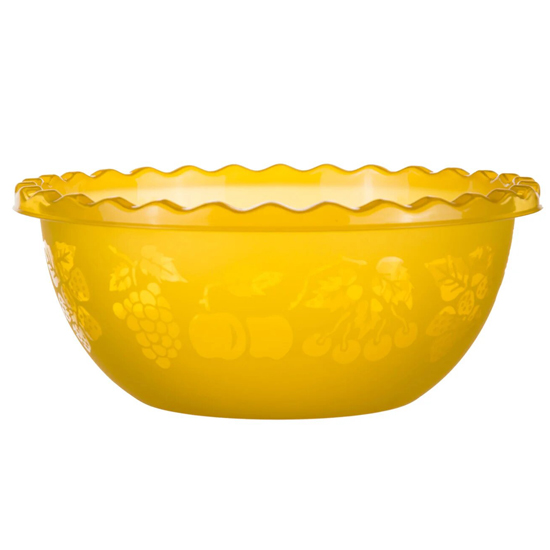 Таз для фруктов 9л желтый