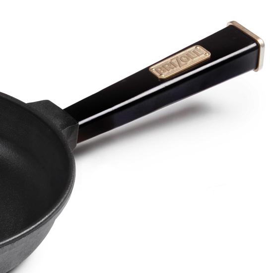 Сковородка Brizoll чугунная К 2460 - Р 24 см черная ручка