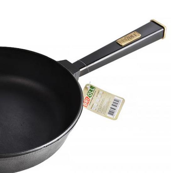 Сковородка Brizoll чугунная К 2660 - Р 26 см черная ручка