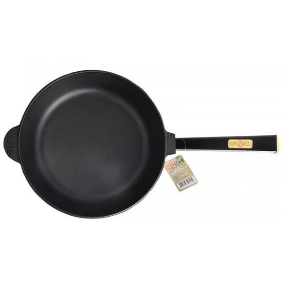 Сковородка Brizoll чугунная К 2860 - Р 28 см черная ручка