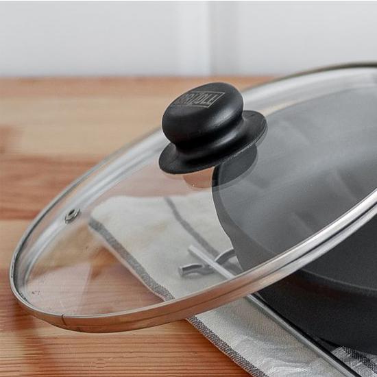 Сковородка Brizoll чугунная О 2440 - Р 24 см черная ручка