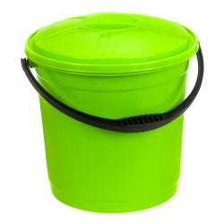 Ведро R-Plastic цветное с крышкой 10л