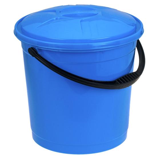 Ведро R-Plastic цветное с крышкой 12л