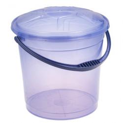 Ведро R-Plastic прозрачное с крышкой 12л