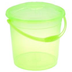 Ведро R-Plastic прозрачное с крышкой 10л