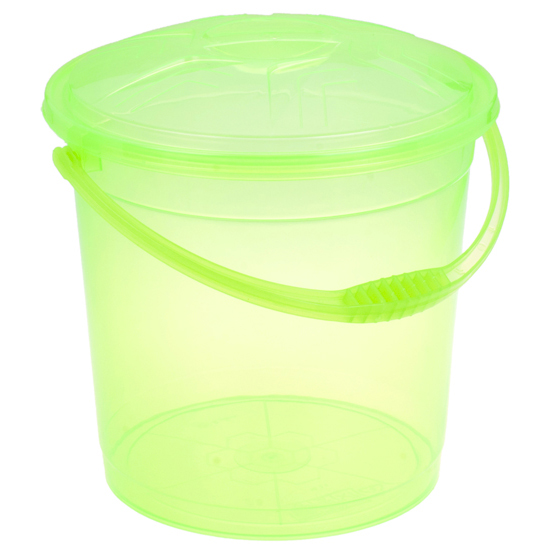Ведро R-Plastic прозрачное с крышкой 15л