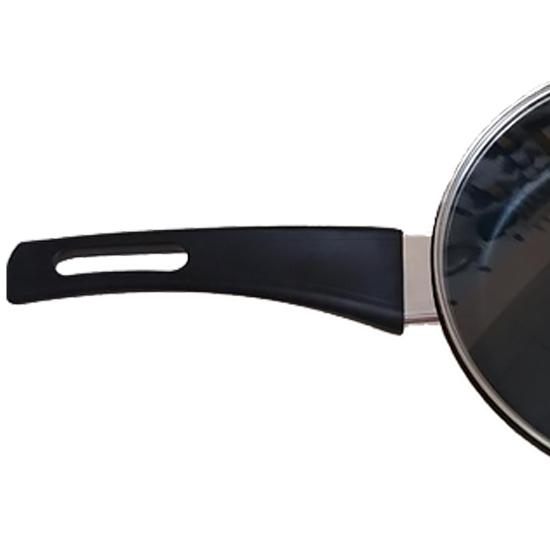 Сковородка Talko с антипригарным покрытием A 50223 22 см со стеклянной крышкой и металлическим ободком