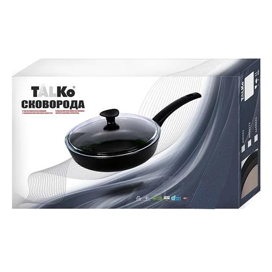Сковородка Talko с антипригарным покрытием A 51242 24 см с жаростойкой крышкой PYREX