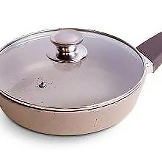 Сковородка Talko мраморная  AA 50263 26 см cо стеклянной крышкой и металлическим ободком