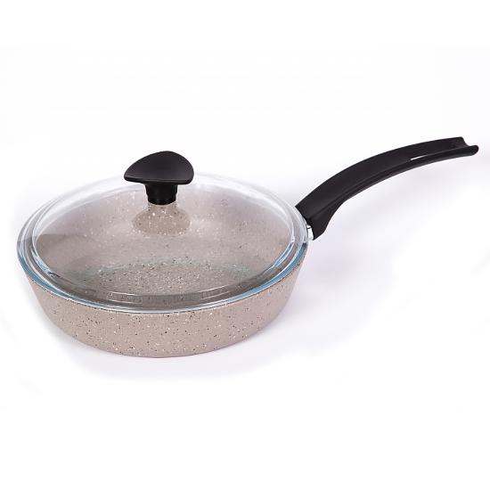 Сковородка Talko с антипригарным покрытием AA 51242 24 см с жаростойкой крышкой PYREX