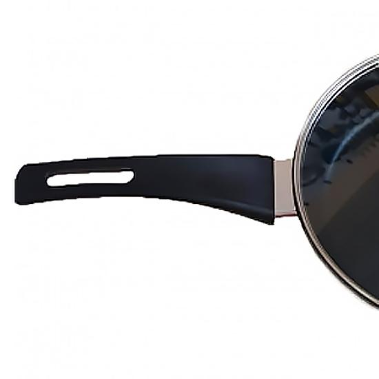 Сковородка Talko мраморная AD 40243 24 см с стеклянной крышкой и металлическим ободком