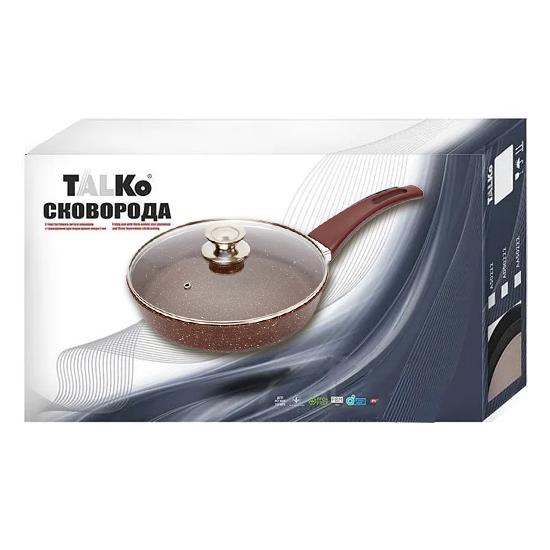 Сковородка Talko с антипригарным покрытием AK 51262 26 см с жаростойкой крышкой PYREX