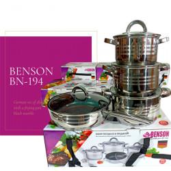 Набор кастрюль BN-194 нержавеющая сталь 8 предметов