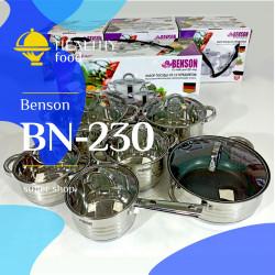 Набор кастрюль BN-230 нержавеющая сталь 12 предметов