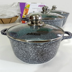 Набор кастрюль BN-324 алюминий литой 6 предметов